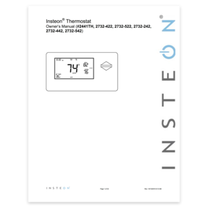 Wired thermostat setup insteon wired thermostat owners manual publicscrutiny Gallery