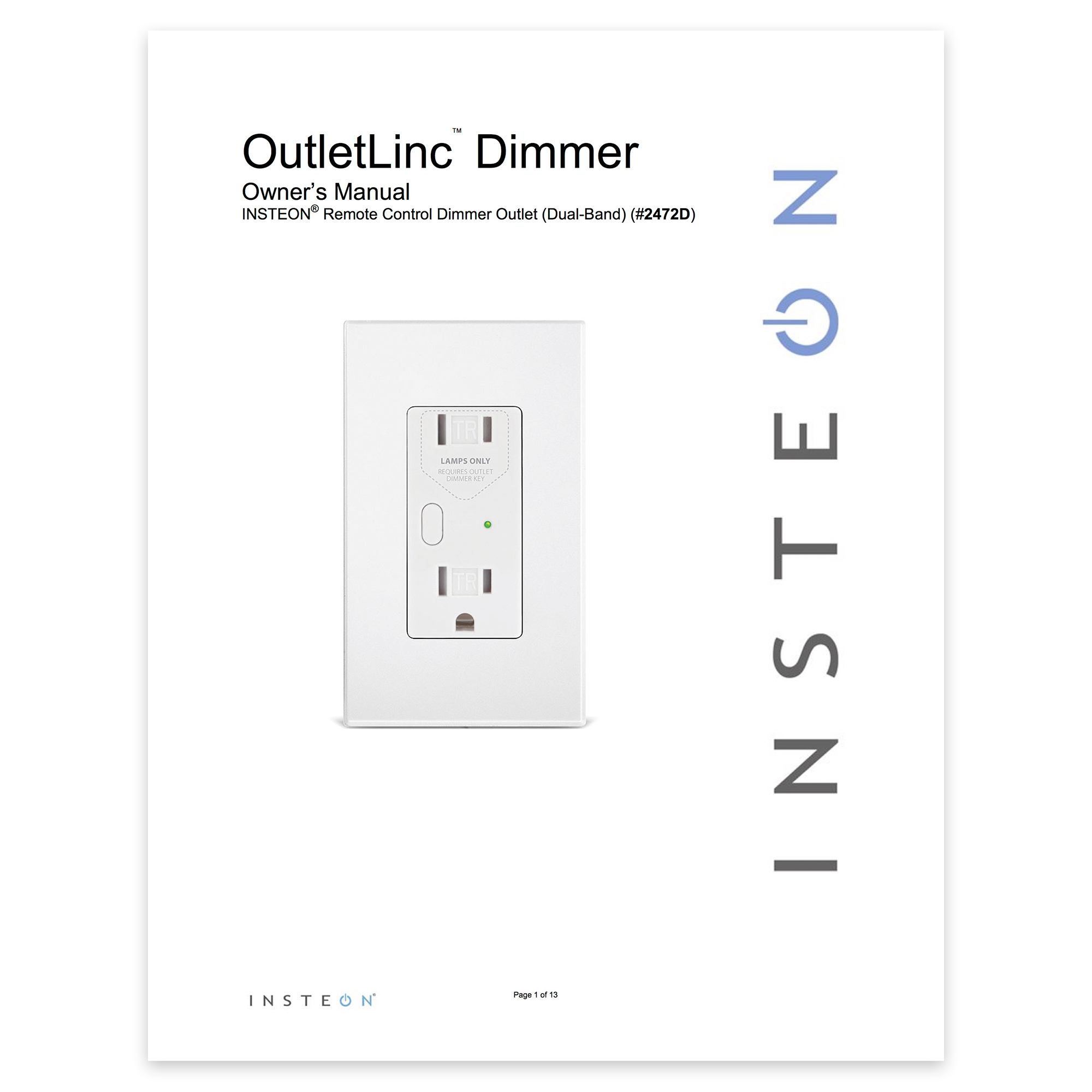 dimmer outlet setup  u2014 insteon