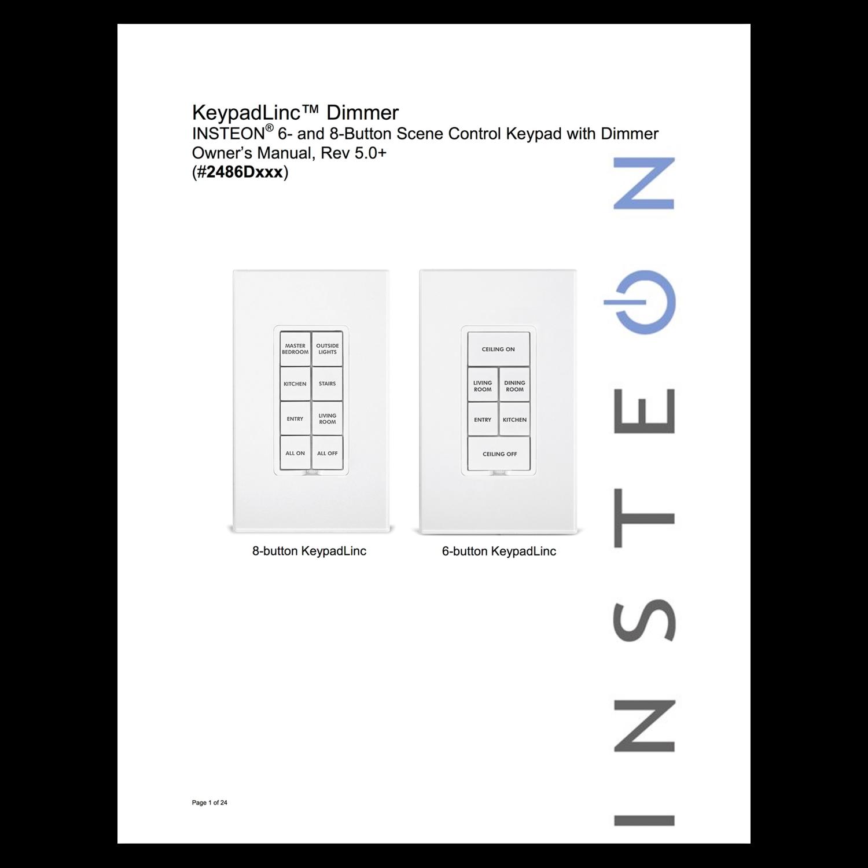 KeypadLinc Dimmer - Owner's Manual — Insteon