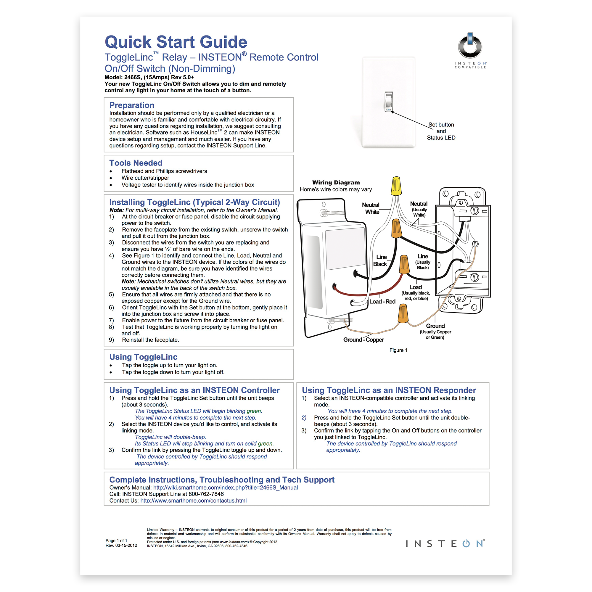 On Off On Toggle Switch Manual Guide
