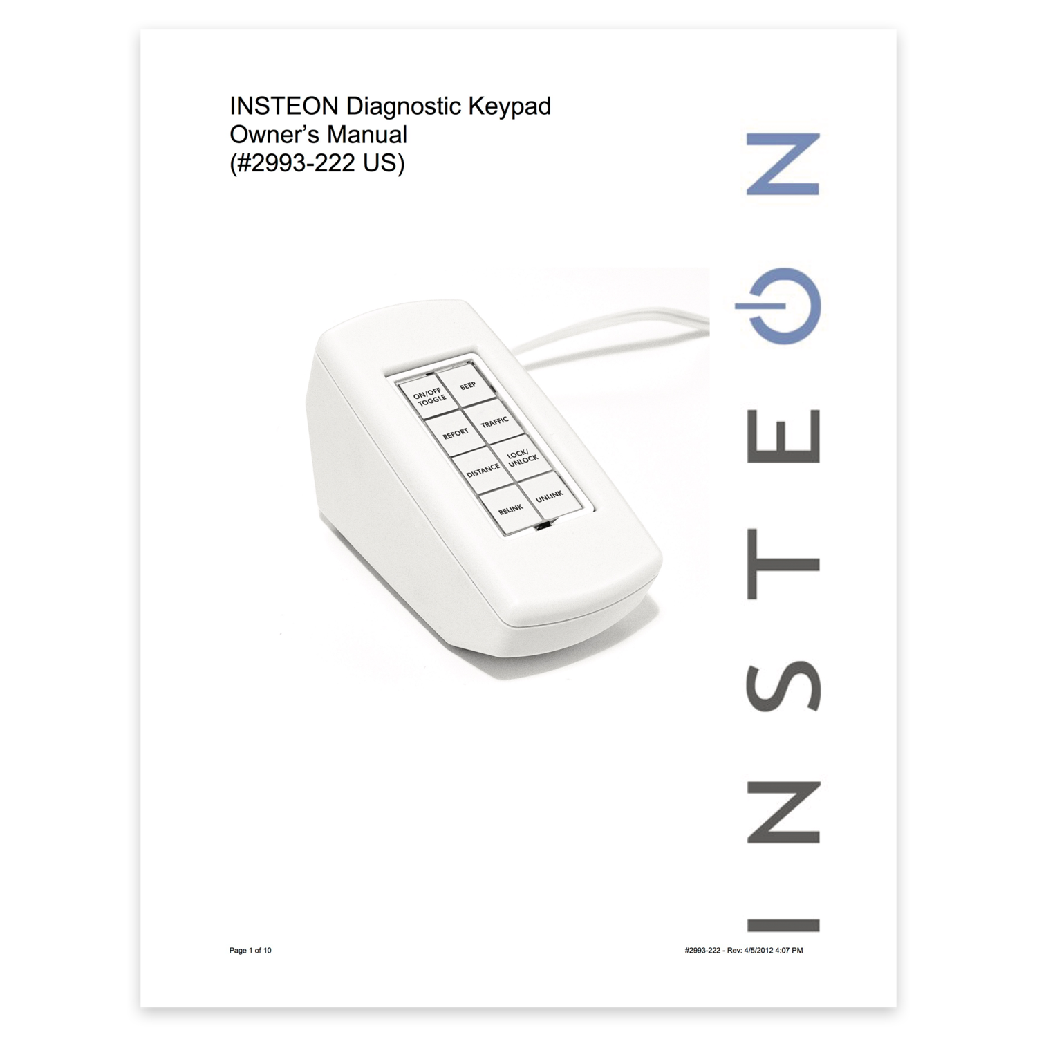 Support knowledgebase insteon diagnostic keypad owners manual publicscrutiny Gallery