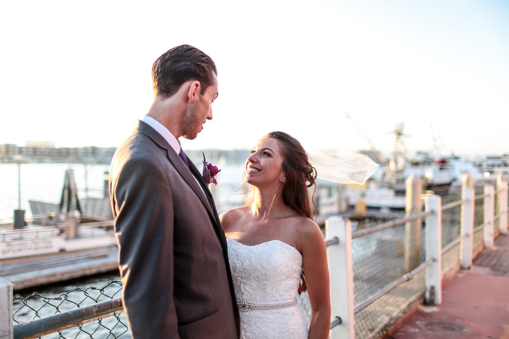 Golden Hour wedding shoot in Marina del Rey, California.