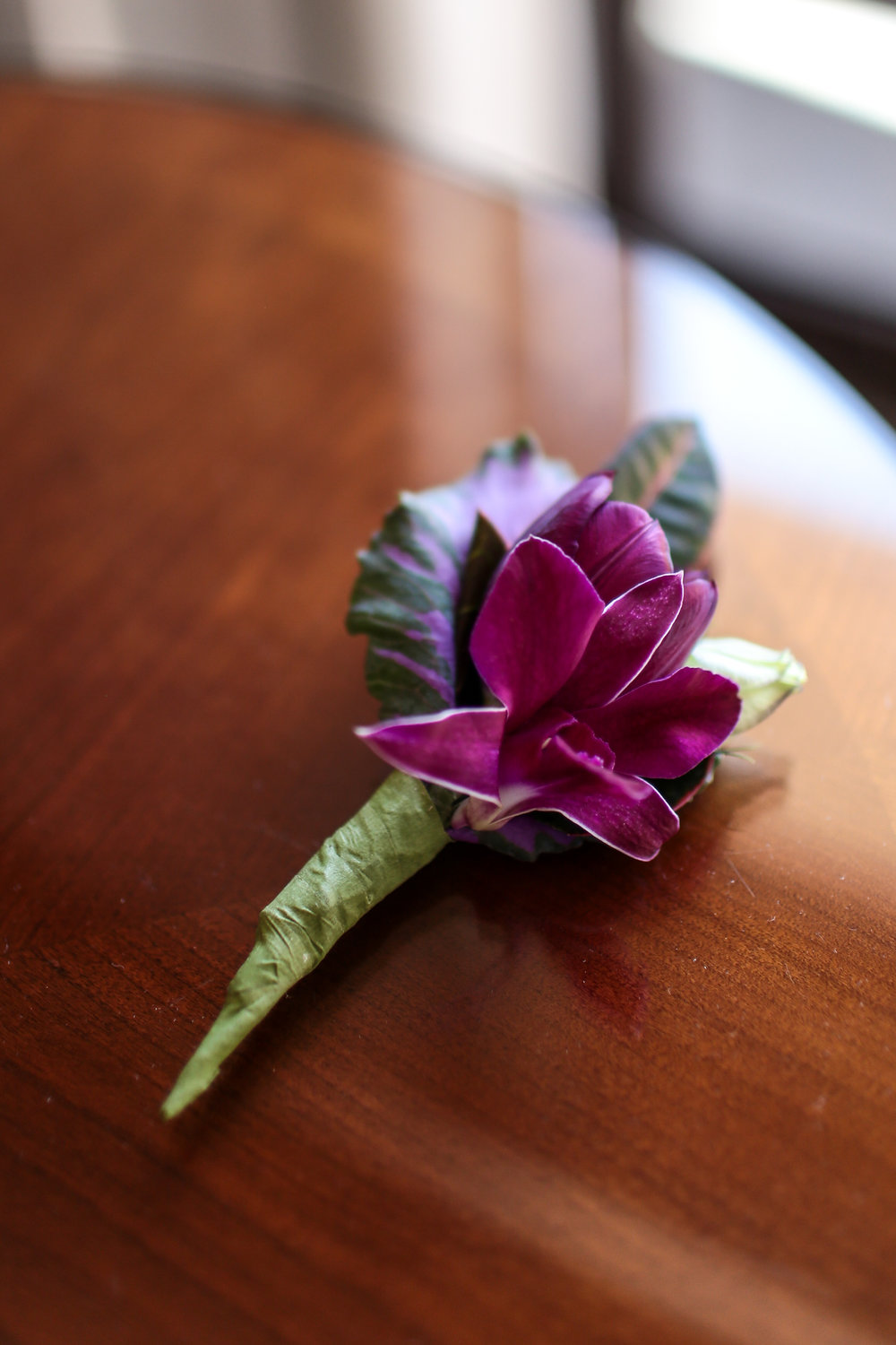 Eric's boutonniere