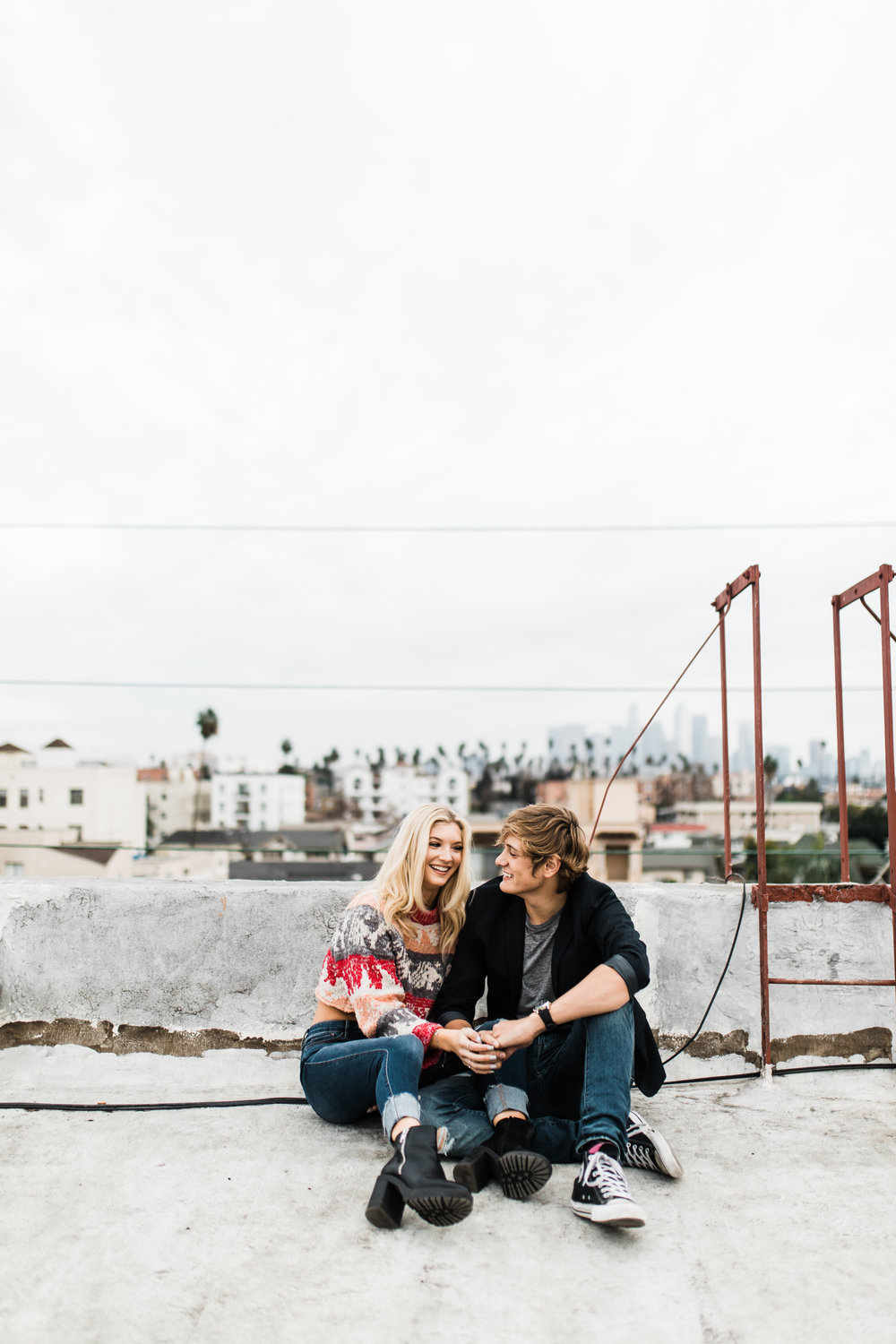 KylaLaufer&GusDeStJeor-Couples-Session-Los-Angeles-Rooftop-Sunset-Clarisse-Rae-Southern-California-Wedding-Photographer_15