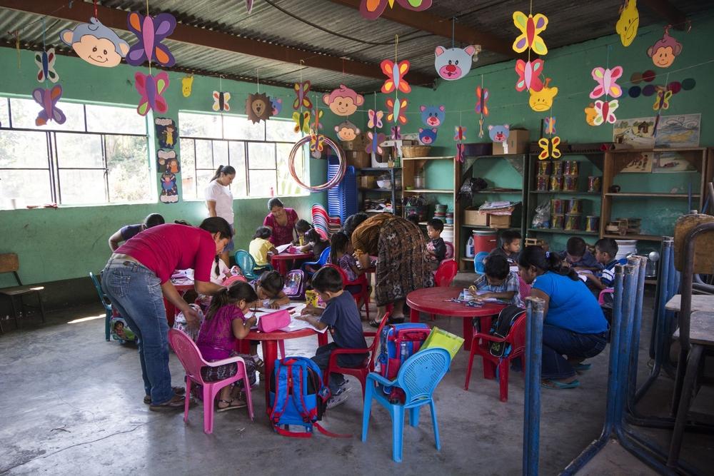 Classroom at Nueva Vida School, San Lucas Toliman, Guatemala