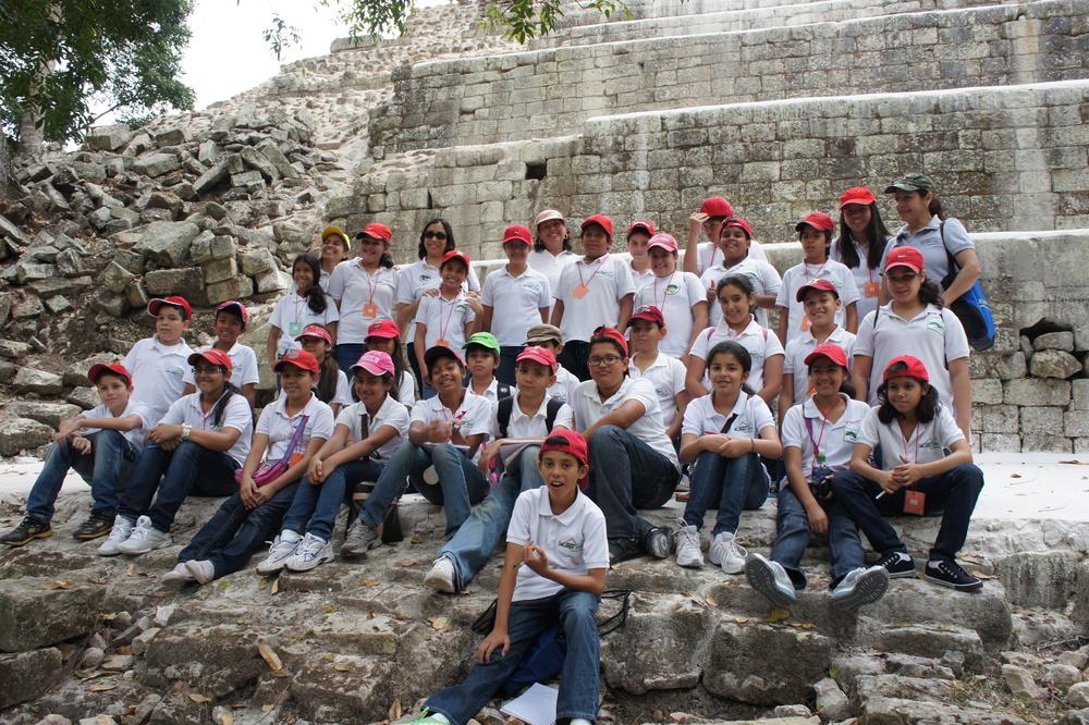 Fifth grade class at Copan Ruinas, Honduras.