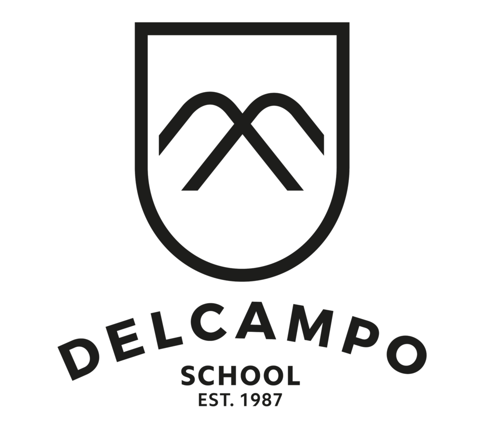 DelCampo School Black Logo