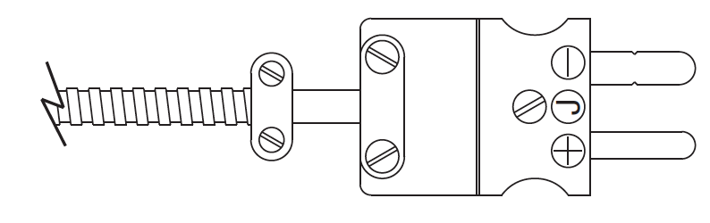 Termination Style 3 Standard Male Plug (cable clamp shown, but not provided as standard)
