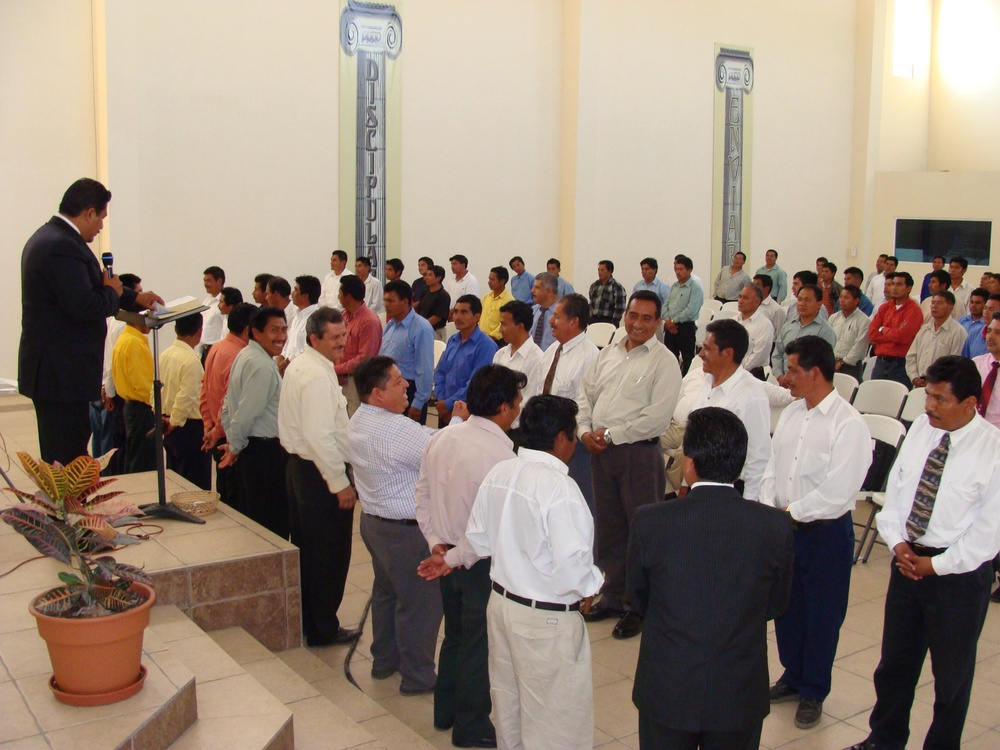 Over a hundred pastors gather for worship, training, and mutual edification.