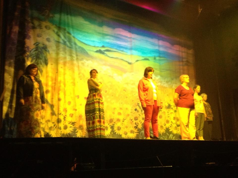 Calender girls performing