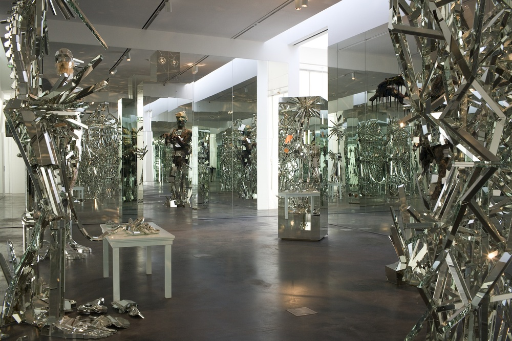 Installation View: David Altmejd,  Star Power: Museum as Body Electric , 2007, wood, mirror, epoxy clay, horse hair, glue.