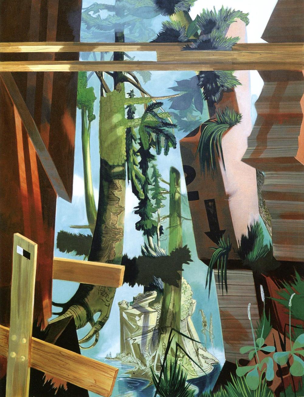 Susanne Kuhn, Quarry , 2005. Pigment, dispersion, and acrylic on canvas, 210 x 160 cm.   © Susanne Kuhn.
