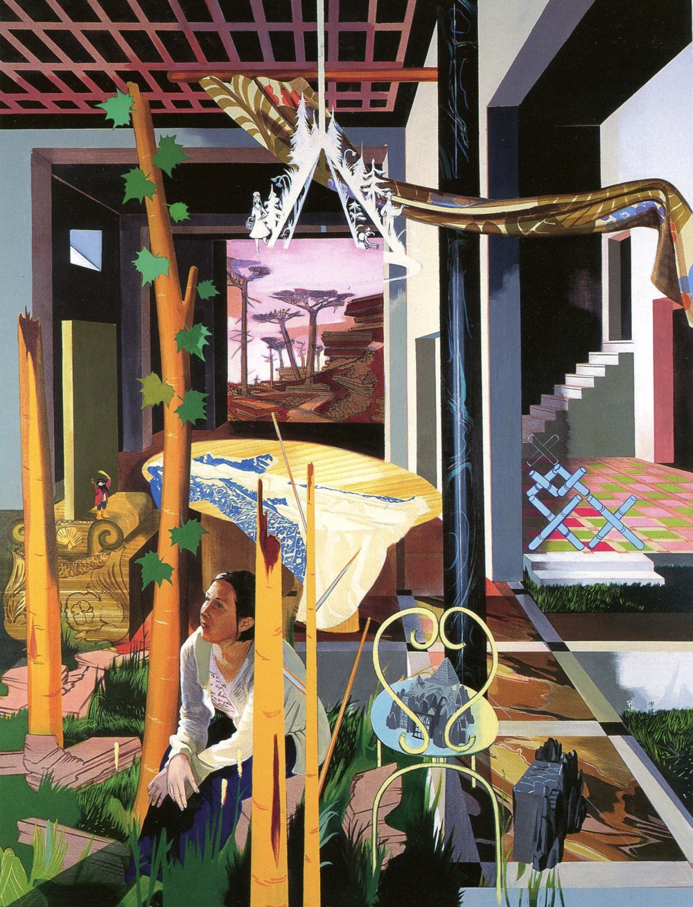 Susanne Kuhn, Melanie -Melancholy , 2007. Pigment, dispersion, and acrylic on canvas, 240 x 180 cm.  © Susanne Kuhn.