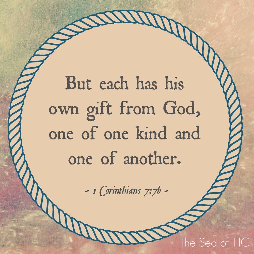 1 Corinthians 7:7b