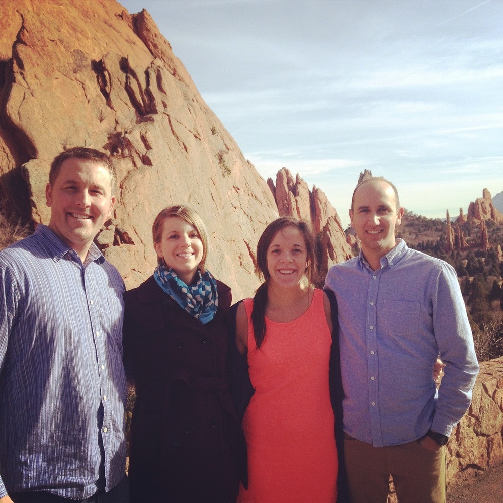 Garden of the Gods with the bride and groom.