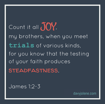 Count it all joy verse James 1:2-3