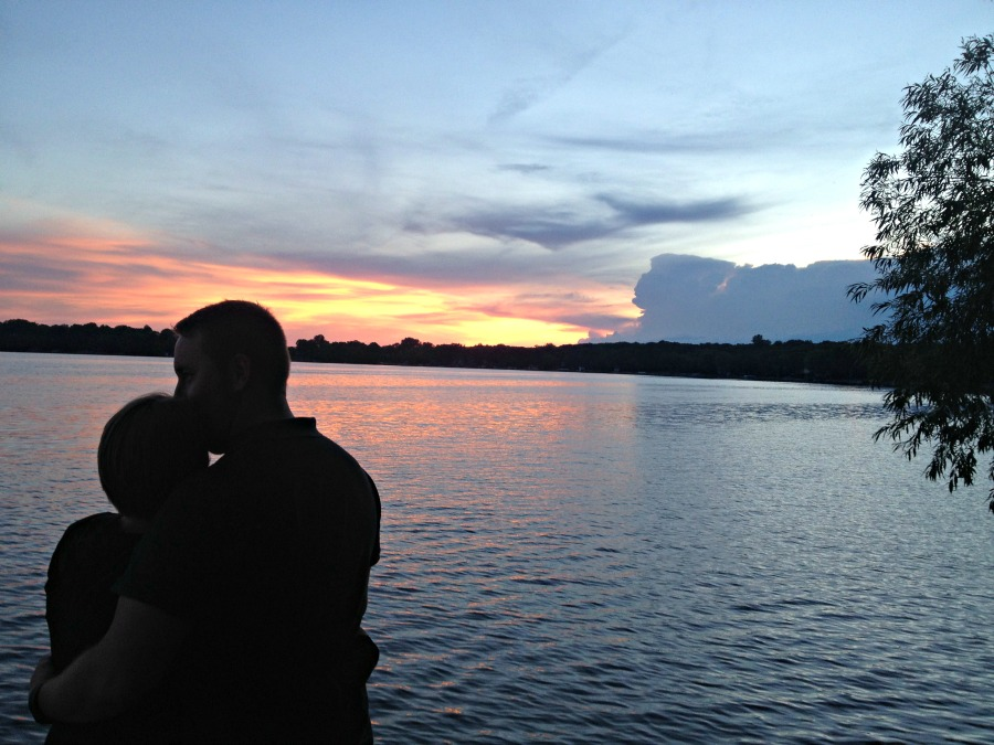 Sunset Kiss at the Lake.JPG