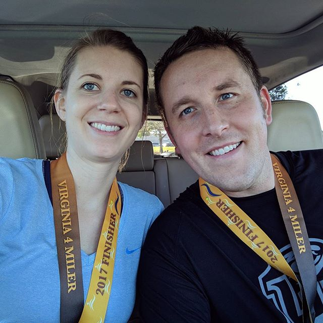 Our third VA 4-Miler is in the books. #ouch #runningisforcrazypeople #proudofus  Also, @csweaz killed it.
