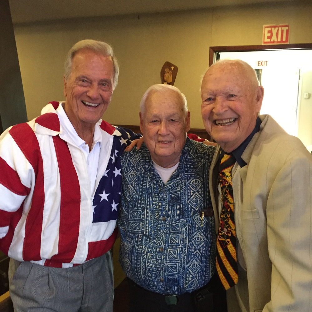 Pat Boone, Sr. Warden Dick Burden and Jimmy Weldon