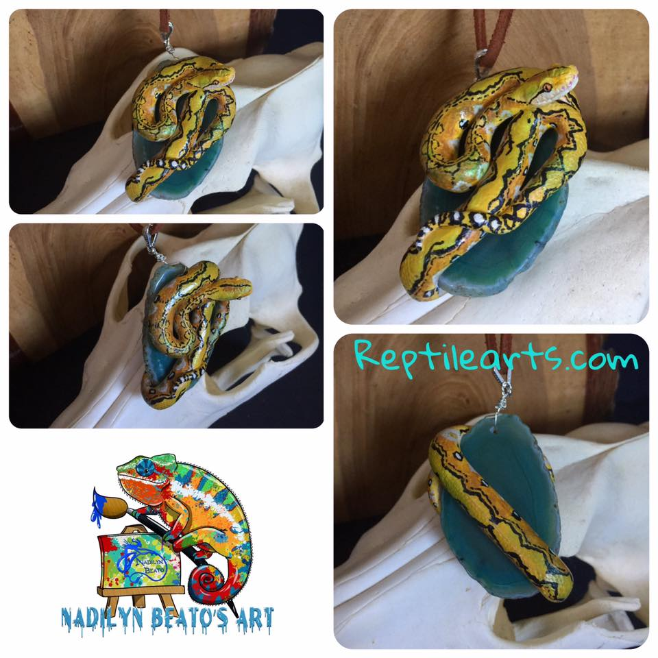 Dwarf Reticulated Python Pendant
