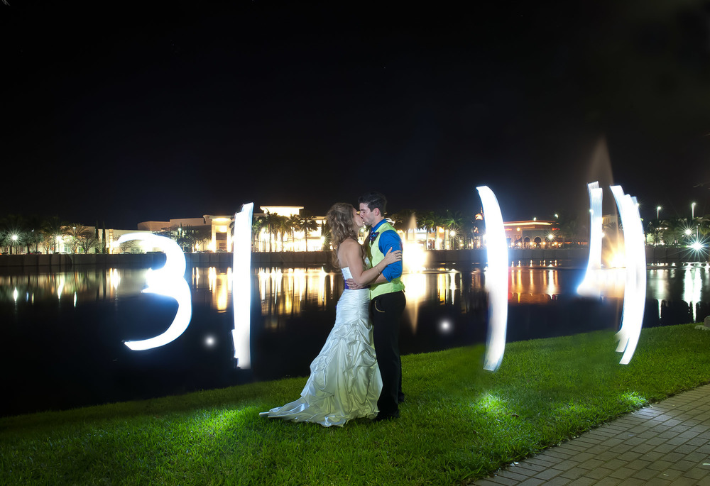 Light It up wedding Ashley Tyler