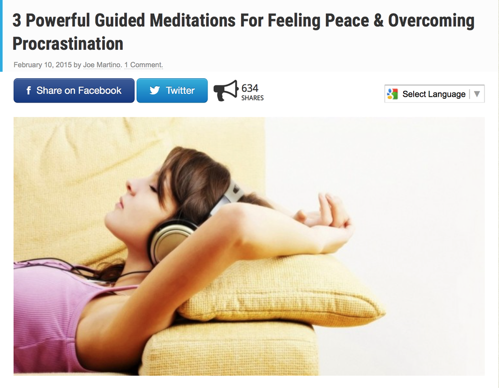 http://www.collective-evolution.com/2015/02/10/3-powerful-guided-meditations-for-feeling-peace-overcoming-procrastination/