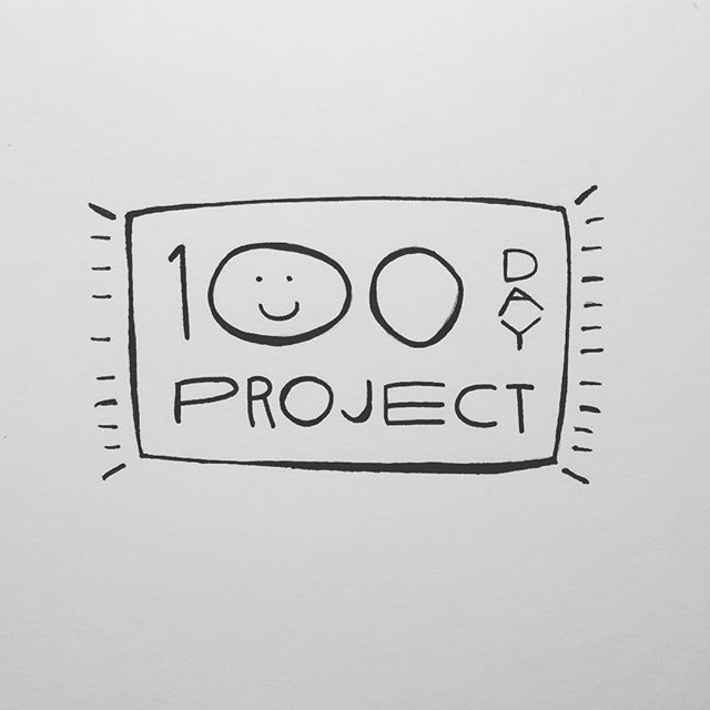 This is day 100 of #the100dayproject !! Thx for following even when my drawings weren't all that #good. It's been real #100daysofgoodthings -T