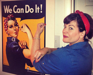 Rosie the Riveter meets Donna the Rocker