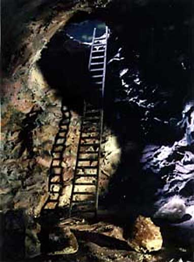 """Chamber of Passage, 1992 From the series """"The Mining Project"""" collection: Musée d'art de Joliette"""