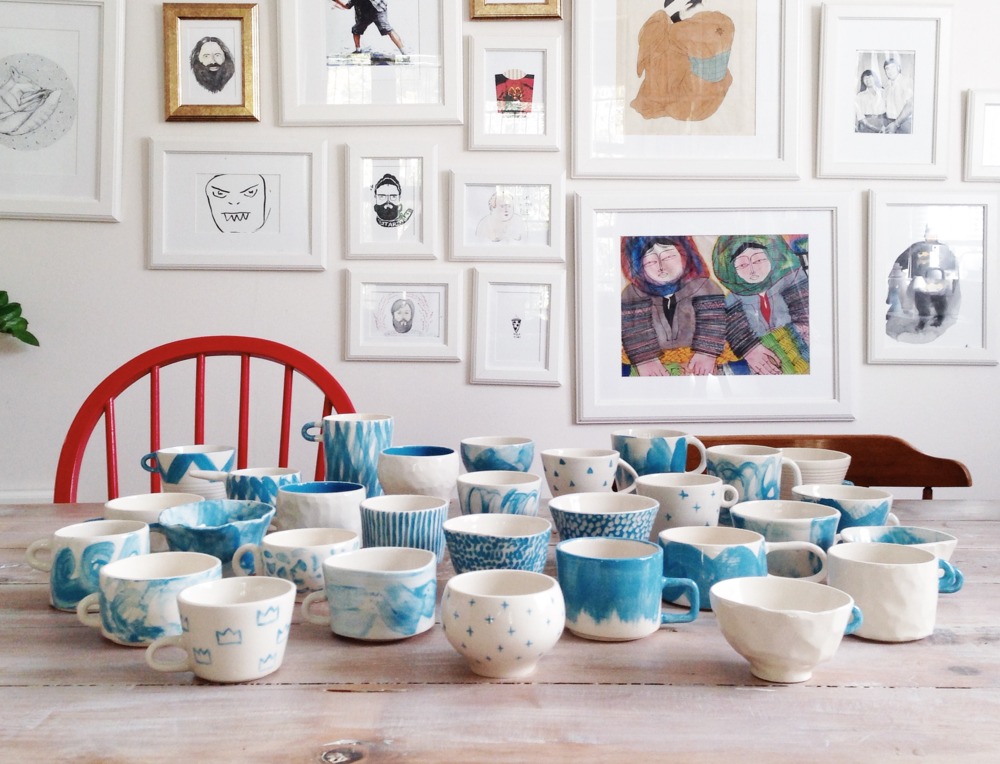 100 mugs in 100 days 100daysofmugs the 100 day project charlie and blair brisbane ceramics artisan art