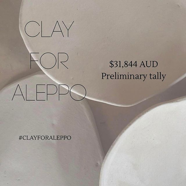 What an amazing outcome!!!! Thank you @clayforaleppo for organising this and letting us be apart of it.