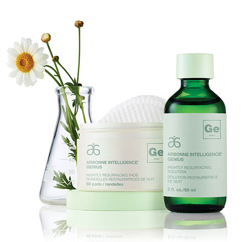 """Arbonne Genius isthe first ever plant based resurfacing pads meant to replicate the effects of """"retinol."""" This is the most popular item that my clients purchase!"""