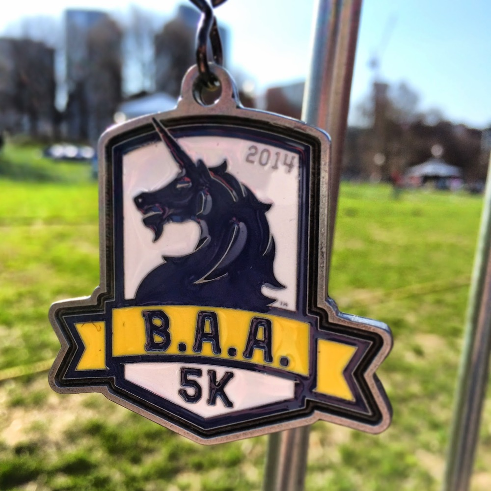 A really nice medal for a 5k
