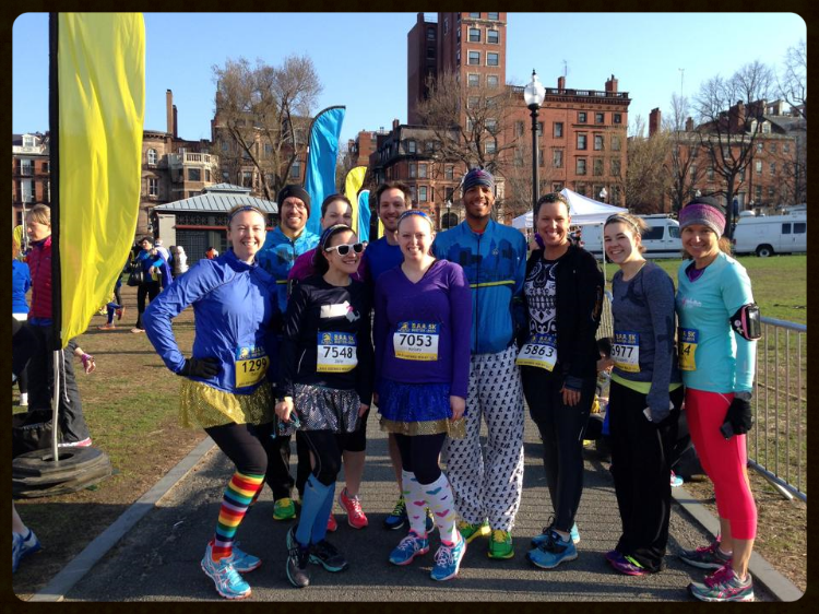 The gang at 2014 BAA 5k.