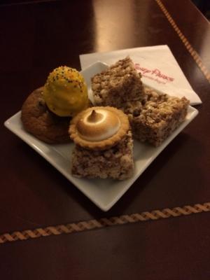 Delicious dessert treats.