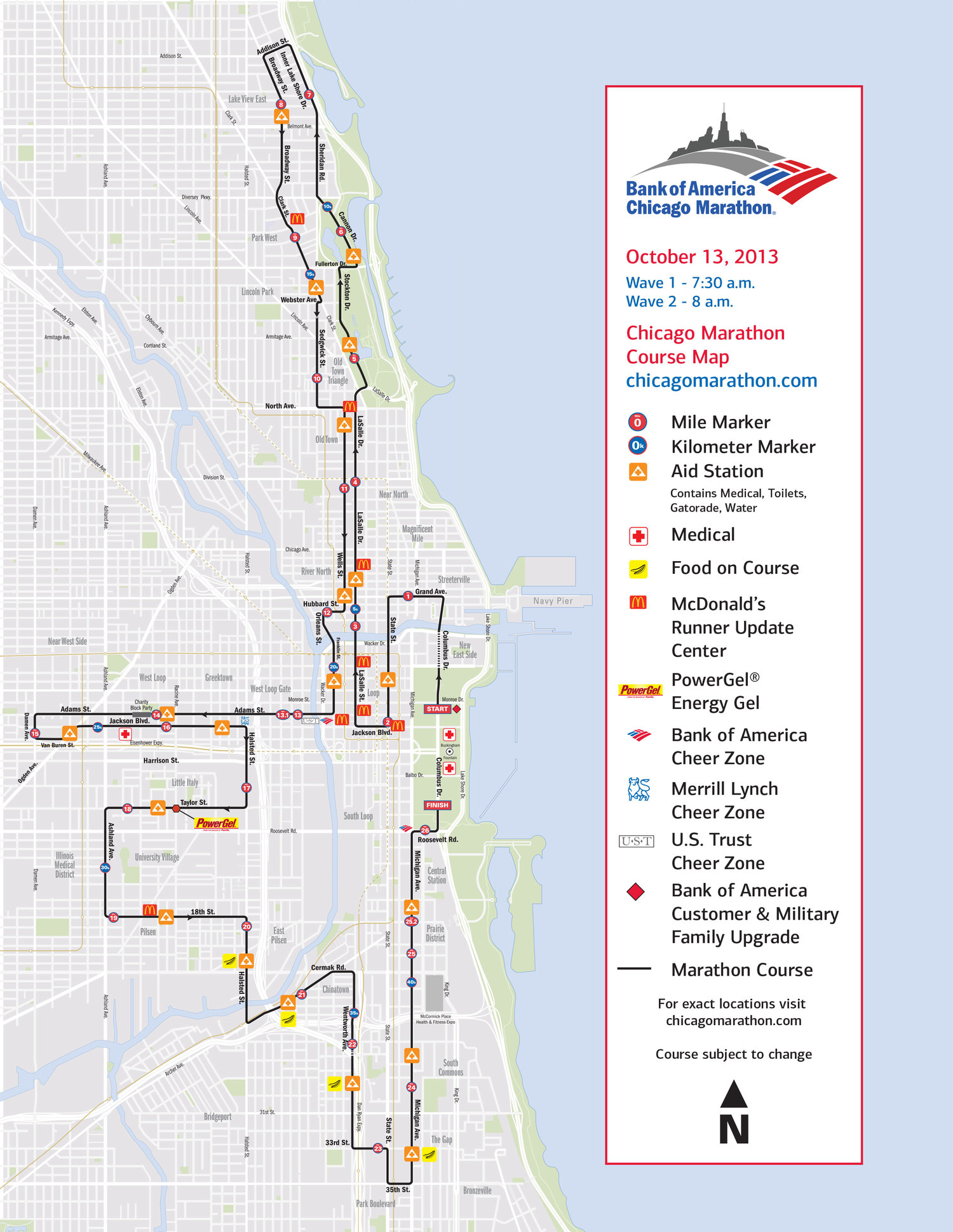 Chicago Marathon Things To Know  Always Running Forward - America map chicago