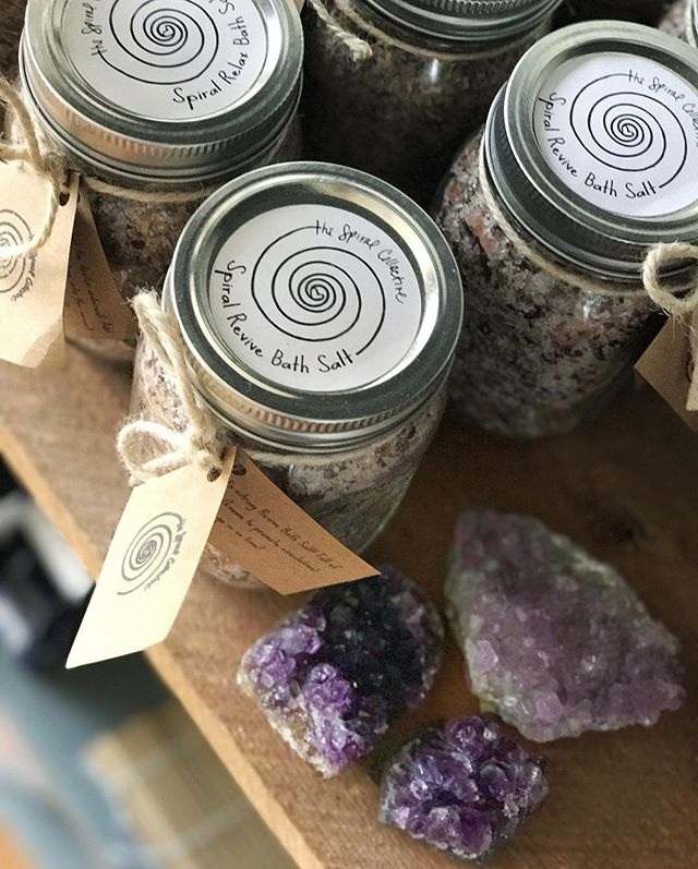 Restocked crystals and these lovely bath salts at @allitsown_shop on West Colfax today! Come say hi!
