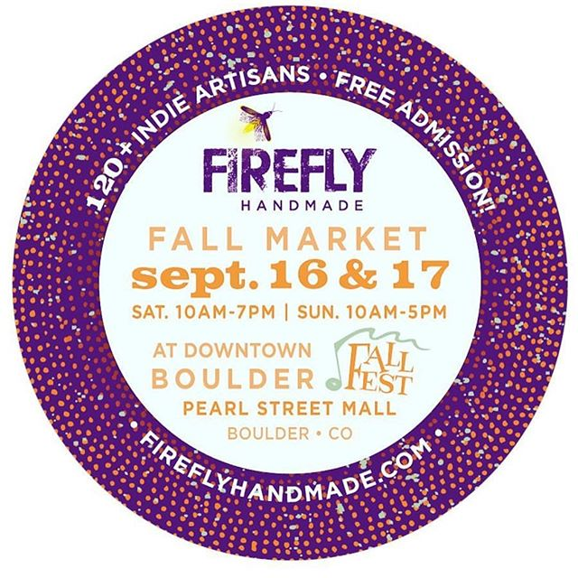 It's just about time for the next @fireflyhandmade market! Make sure to pop up to Boulder to check out Fall Fest and browse all of the new Spiral goodies!