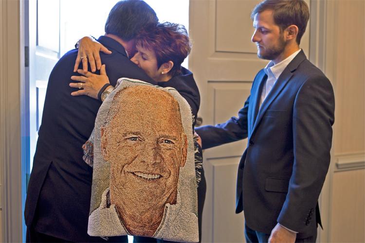 Funeral Blanket Hug