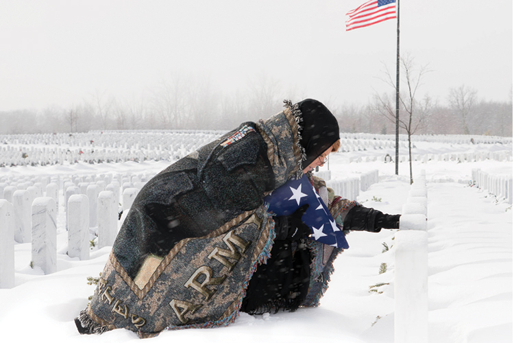 Graveside funeral blanket