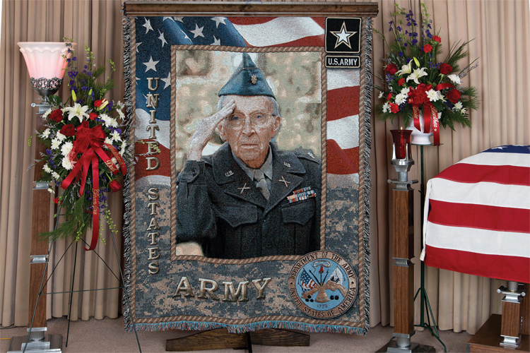 Veteren Funeral Blanket