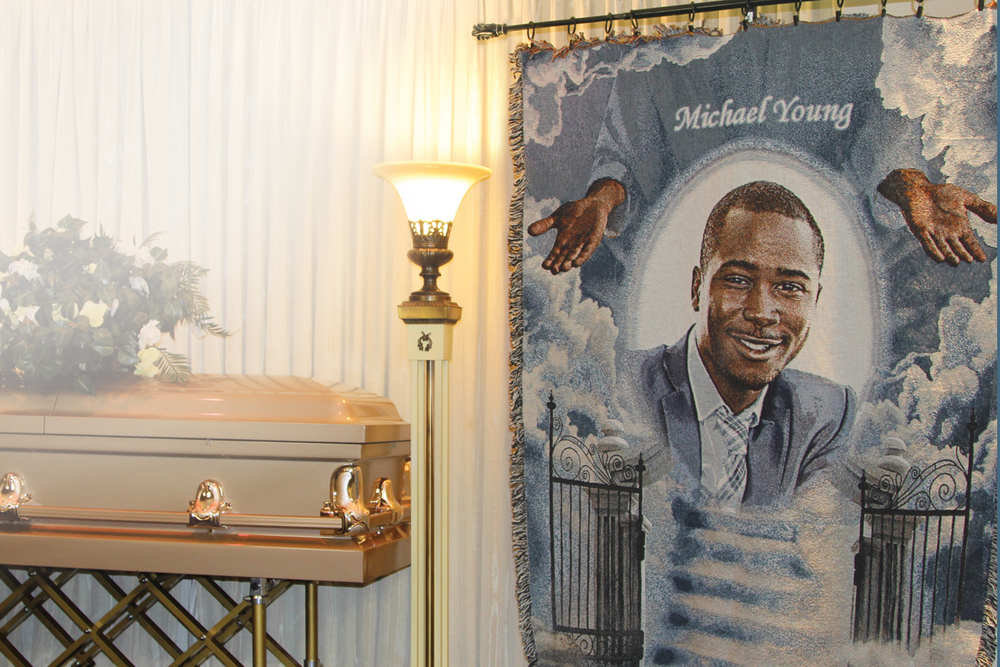 Michael Young Funeral Blanket