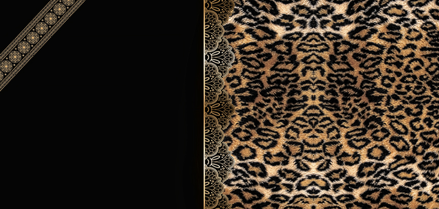 Casket Panel Insert Diamonds Leopard