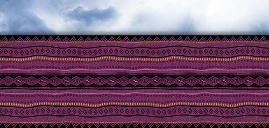 Casket Cap Panel Insert African Fabric