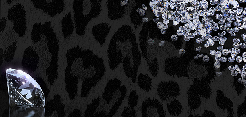 Diamonds Leopard Pattern Casket Cap Panel Insert