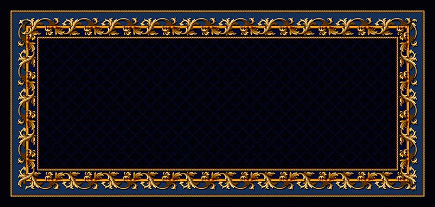 Cap Panel Casket Insert Blue Acanthus