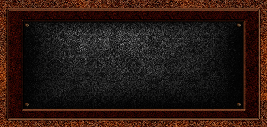 Leather Damask Casket Cap Panel