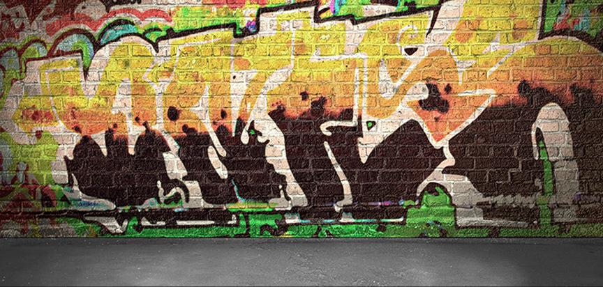 Casket Cap Panel Insert Graffiti