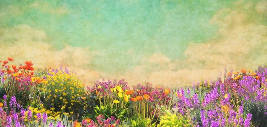 Flower Garden Casket Cap Pane
