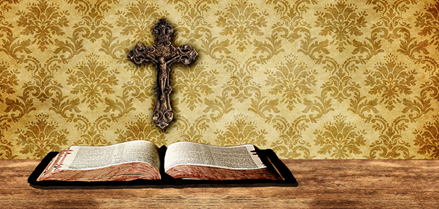Bible Cross Damask